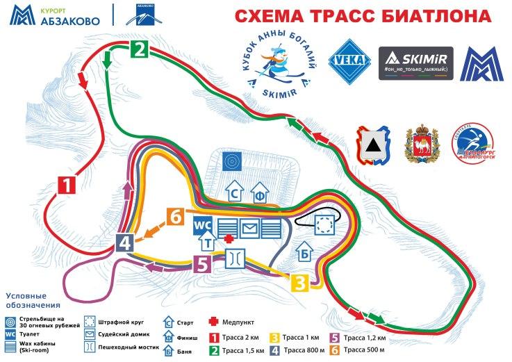 Схема трасс Абзаково